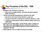 key provisions of the dal 1995