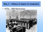 req 2 history impact of computers8