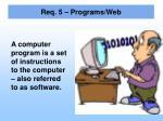 req 5 programs web1