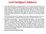 lord cardigan s address