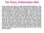 the times 14 november 1854