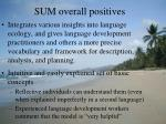 sum overall positives