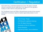 certification regulation