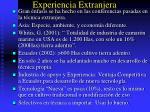 experiencia extranjera