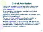 chiral auxillaries