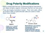 drug polarity modifications