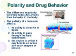 polarity and drug behavior
