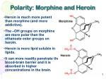polarity morphine and heroin
