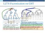lz78 factorization on gst
