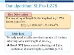our algorithm slp to lz78