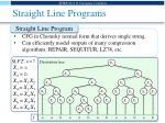 straight line programs