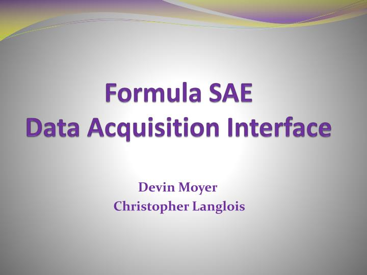 formula sae data acquisition interface n.