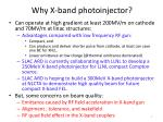 why x band photoinjector