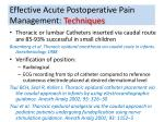 effective acute postoperative pain management techniques4