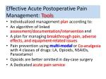 effective acute postoperative pain management tools