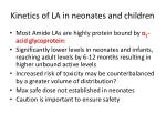 kinetics of la in neonates and children