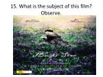 15 what is the subject of this film observe