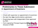 preliminaries to thesis submission1