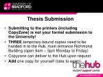 thesis submission