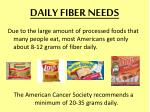 daily fiber needs