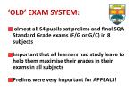 old exam system