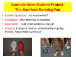 example intro student project the barefoot running fad