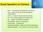 guest speakers to campus