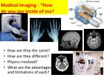 medical imaging how do you see inside of me