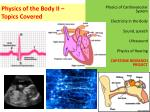 physics of the body ii topics covered