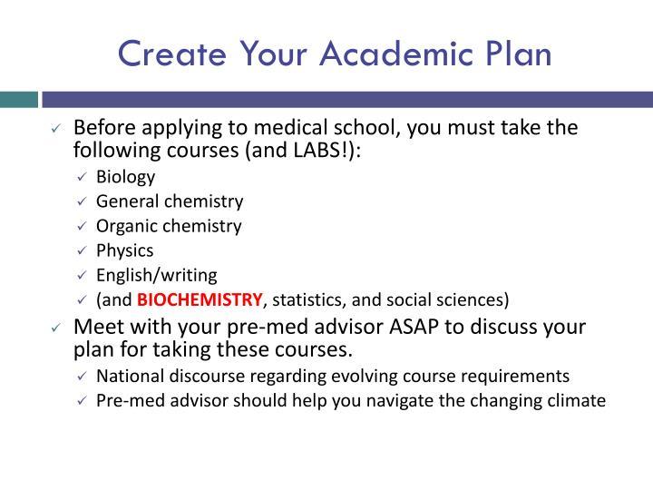 Create Your Academic Plan