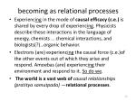becoming as relational processes