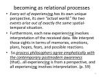 becoming as relational processes1