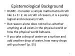 epistemological background