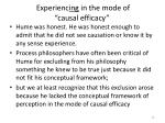 experienc ing in the mode of causal efficacy2
