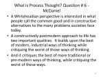 what is process thought question 6 mcdaniel