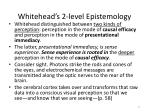 whitehead s 2 level epistemology