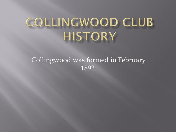 collingwood club history n.