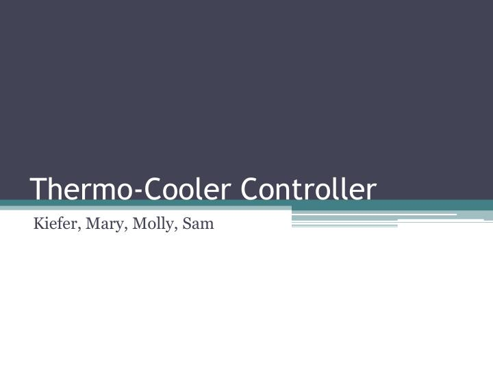 thermo cooler controller n.