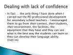 dealing with lack of confidence