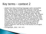 key terms context 2