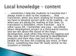 local knowledge content