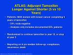 atlas adjuvant tamoxifen longer against shorter 5 vs 10 years