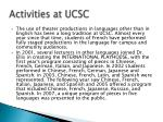 activities at ucsc