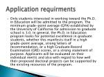application requirments