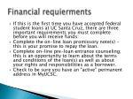 financial requierments