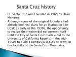 santa cruz history