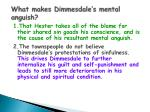 what makes dimmesdale s mental anguish