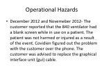 operational hazards