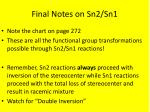 final notes on sn2 sn1