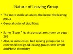 nature of leaving group